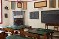 Pioneer school australia interior of a from the s in Royalty Free Stock Image