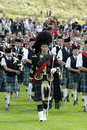 Pipe band in edinburgh Royalty Free Stock Photos