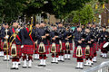 Pipe Band to Greet Queen Elizabeth II Royalty Free Stock Photo