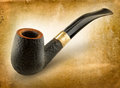 Pipe beautiful made by hand by a master Stock Image