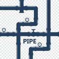 Pipe fittings  icons set. Tube industry, construction pipe Royalty Free Stock Photo