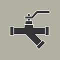 Pipe icon vector