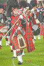 Pipe Major at Glenurquhart Highland Games. Royalty Free Stock Photography
