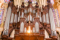 Pipe organ of Chartres Cathedral Stock Photography