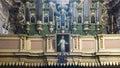 Pipe organ in church Royalty Free Stock Photo