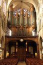 Pipe organ of the church of St. Severin in Paris Royalty Free Stock Photo