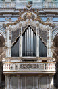 Pipe organ inside San Giorgio Church, Modica, Sicily, Italy Royalty Free Stock Photo