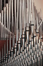 Pipe organ pipes Royalty Free Stock Images