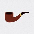 Pipe smoke wooden isolated icon