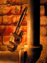 Pipe and wrench Royalty Free Stock Image