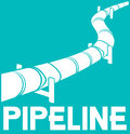 Pipeline design sign symbol Royalty Free Stock Images