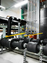Pipeline in industrial interior insulated Royalty Free Stock Image