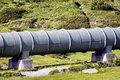 Pipeline modern at a valley Stock Images