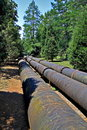 Pipeline Through Nature Stock Photos