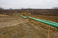 Pipeline in pennsyvania being installed pennsylvania for carrying gas from marcellus shale wells Royalty Free Stock Photos