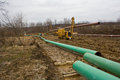 Pipeline in pennsyvania being installed pennsylvania for carrying gas from marcellus shale wells Royalty Free Stock Photography