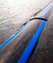 Pipeline pipe laid in the river along the coast Royalty Free Stock Photography