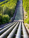 Pipeline at a valley photo Stock Photography