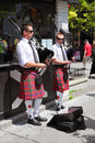 Pipers outside a bistro in downtown Ottawa Stock Photography