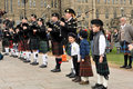 Pipers peform on Tartan Day Stock Photos