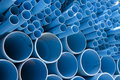 Pipes bleues de PVC Image stock