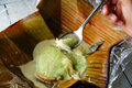 Pipes Kopyor, traditional food from Indonesia Royalty Free Stock Photo