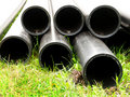 Pipes  plastic  round   cut Stock Photos