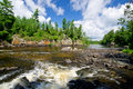 Pipestone falls, bwcaw, minnesota Royalty Free Stock Photo