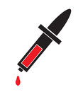 Pipette icon vector