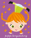 Pippi longstocking Royalty Free Stock Image