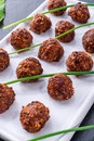 Piquant rissoles a tasty and fresh Royalty Free Stock Images