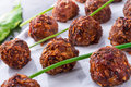 Piquant rissoles a tasty and fresh Royalty Free Stock Photos