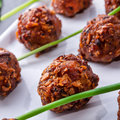 Piquant rissoles a tasty and fresh Stock Photo