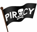 Piracy Flag Illegal Downloading Files Internet Sharing Sites Royalty Free Stock Photo