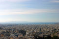 Piraeus panorama bird s eye view from the mouseion hill in athens at the port of Royalty Free Stock Photos
