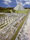 Piramide a Chichen-Itza, Messico Immagine Stock