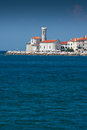 Piran slovenia with blue sky Stock Photos