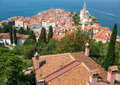 Piran slovenia panorama from the top Royalty Free Stock Photography