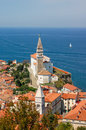 Piran slovenia panorama from the top Royalty Free Stock Photo