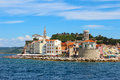 Piran, Slovenia from the sea Royalty Free Stock Photo