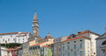 Piran slovenia tartini square architecture Stock Image