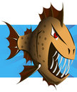 Piranha predatory fish vector art Royalty Free Stock Photography