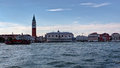 Pirat ship, doge Palace, San Marco, Venice, Italy Royalty Free Stock Photo