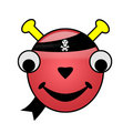 Pirate Alien Smiley Royalty Free Stock Photo