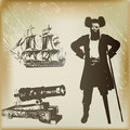 Pirate Background Royalty Free Stock Photos