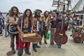 Pirate band the dread crew of oddwood performing at comic con in san diego california on Stock Photography