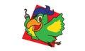 Pirate bird fly Royalty Free Stock Photo