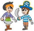 Pirate boy and girl Stock Photos