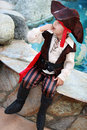 Pirate boy little dressed as Stock Photos