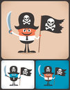 Pirate businessman conceptual illustration of with accessories illustration is in color versions no transparency and gradients Stock Images